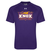 Under Armour Purple Tech Tee-Prairie Fire Logo