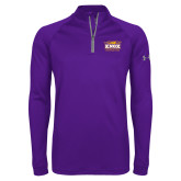 Under Armour Purple Tech 1/4 Zip Performance Shirt-Prairie Fire Logo