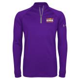 Under Armour Purple Tech 1/4 Zip Performance Shirt-Prairie Fire Logo
