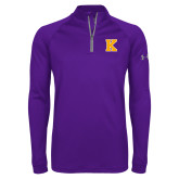 Under Armour Purple Tech 1/4 Zip Performance Shirt-K