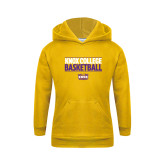 Youth Gold Fleece Hoodie-Knox College Basketball Stacked