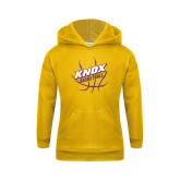 Youth Gold Fleece Hoodie-Knox Basketball w/Ball