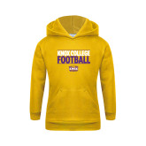 Youth Gold Fleece Hoodie-Knox College Football Stacked