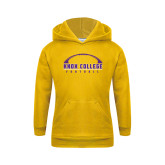Youth Gold Fleece Hoodie-Knox College Football Horizontal