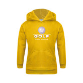 Youth Gold Fleece Hoodie-Knox College Golf Stacked w/Ball
