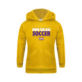 Youth Gold Fleece Hoodie-Knox College Soccer Stacked
