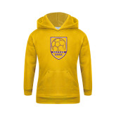 Youth Gold Fleece Hoodie-Knox Soccer Shield