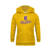 Youth Gold Fleece Hoodie-Knox College Volleyball Can You Dig It