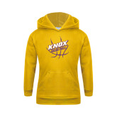 Youth Gold Fleece Hood-Knox Basketball w/Ball