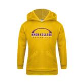 Youth Gold Fleece Hood-Knox College Football Horizontal