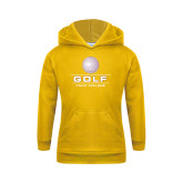 Youth Gold Fleece Hood-Knox College Golf Stacked w/Ball