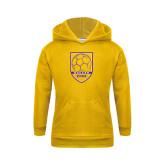 Youth Gold Fleece Hood-Knox Soccer Shield
