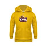Youth Gold Fleece Hood-Knox Mascot Logo