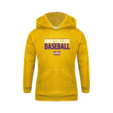 Youth Gold Fleece Hoodie-Knox College Baseball Stacked