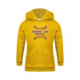 Youth Gold Fleece Hoodie-Prairie Fire Baseball w/Seams