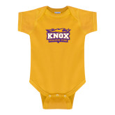 Gold Infant Onesie-Prairie Fire Logo