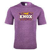 Performance Purple Heather Contender Tee-Prairie Fire Logo