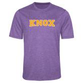 Performance Purple Heather Contender Tee-Knox