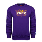 Purple Fleece Crew-Prairie Fire Logo