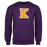 Purple Fleece Crew-K