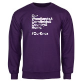 Purple Fleece Crew-OurKnox
