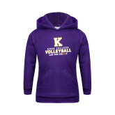 Youth Purple Fleece Hoodie-Knox College Volleyball Can You Dig It
