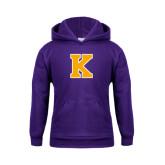 Youth Purple Fleece Hood-K