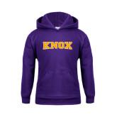 Youth Purple Fleece Hood-Knox