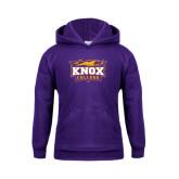 Youth Purple Fleece Hood-Knox College Logo