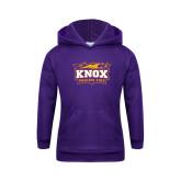 Youth Purple Fleece Hoodie-Prairie Fire Logo