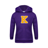 Youth Purple Fleece Hoodie-K