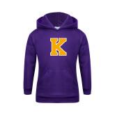 Youth Purple Fleece Hoodie-K