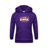 Youth Purple Fleece Hoodie-Soccer