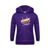 Youth Purple Fleece Hoodie-Knox Basketball w/Ball