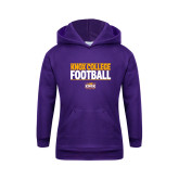 Youth Purple Fleece Hoodie-Knox College Football Stacked