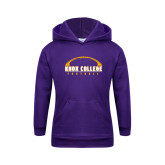Youth Purple Fleece Hoodie-Knox College Football Horizontal