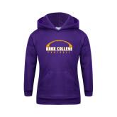 Youth Purple Fleece Hoodie-Knox College Football Horizontal