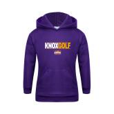 Youth Purple Fleece Hoodie-Knox Golf