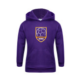 Youth Purple Fleece Hoodie-Knox Soccer Shield