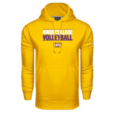 Under Armour Gold Performance Sweats Team Hood-Knox College Volleyball Stacked