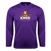 Syntrel Performance Purple Longsleeve Shirt-Knox Mascot Logo
