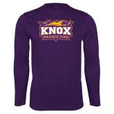 Performance Purple Longsleeve Shirt-Prairie Fire Logo