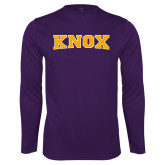 Performance Purple Longsleeve Shirt-Knox