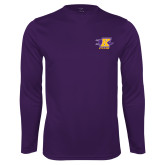 Syntrel Performance Purple Longsleeve Shirt-K Club