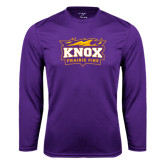 Syntrel Performance Purple Longsleeve Shirt-Prairie Fire Logo