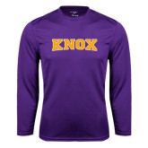 Syntrel Performance Purple Longsleeve Shirt-Knox