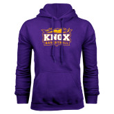 Purple Fleece Hood-Basketball