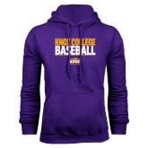 Purple Fleece Hood-Knox College Baseball Stacked