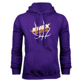 Purple Fleece Hood-Knox Basketball w/Ball