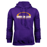 Purple Fleece Hood-Knox College Football Horizontal